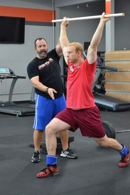 Matt Foreman Coaching an Iron Athlete Weightlifting Clinic