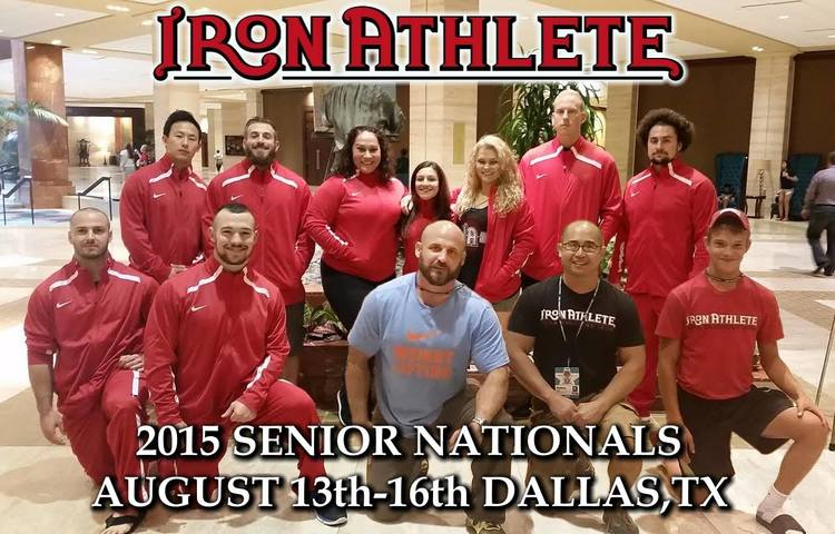 Iron Athlete Competes At The 2015 Senior Nationals Weightlifting Competition