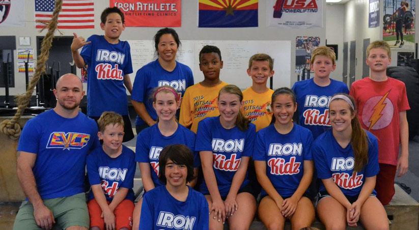 Becky Vasey Coaching the Iron Kidz Program