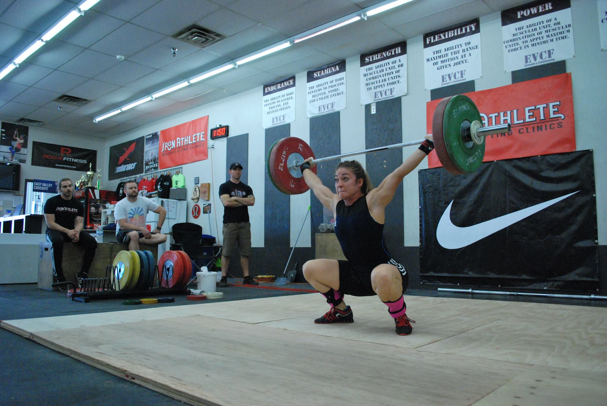 Emily Merritt Competing In The Iron Athlete Open Weightlifting Competition