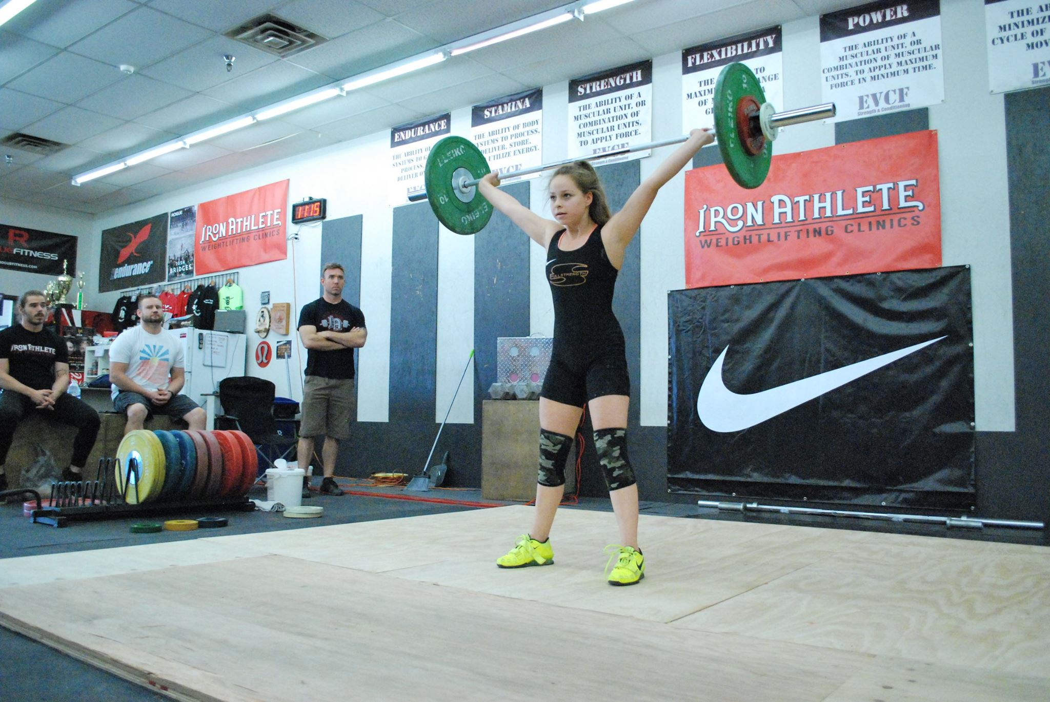Woman Lifting At The Iron Athlete Open Weightlifting Meet