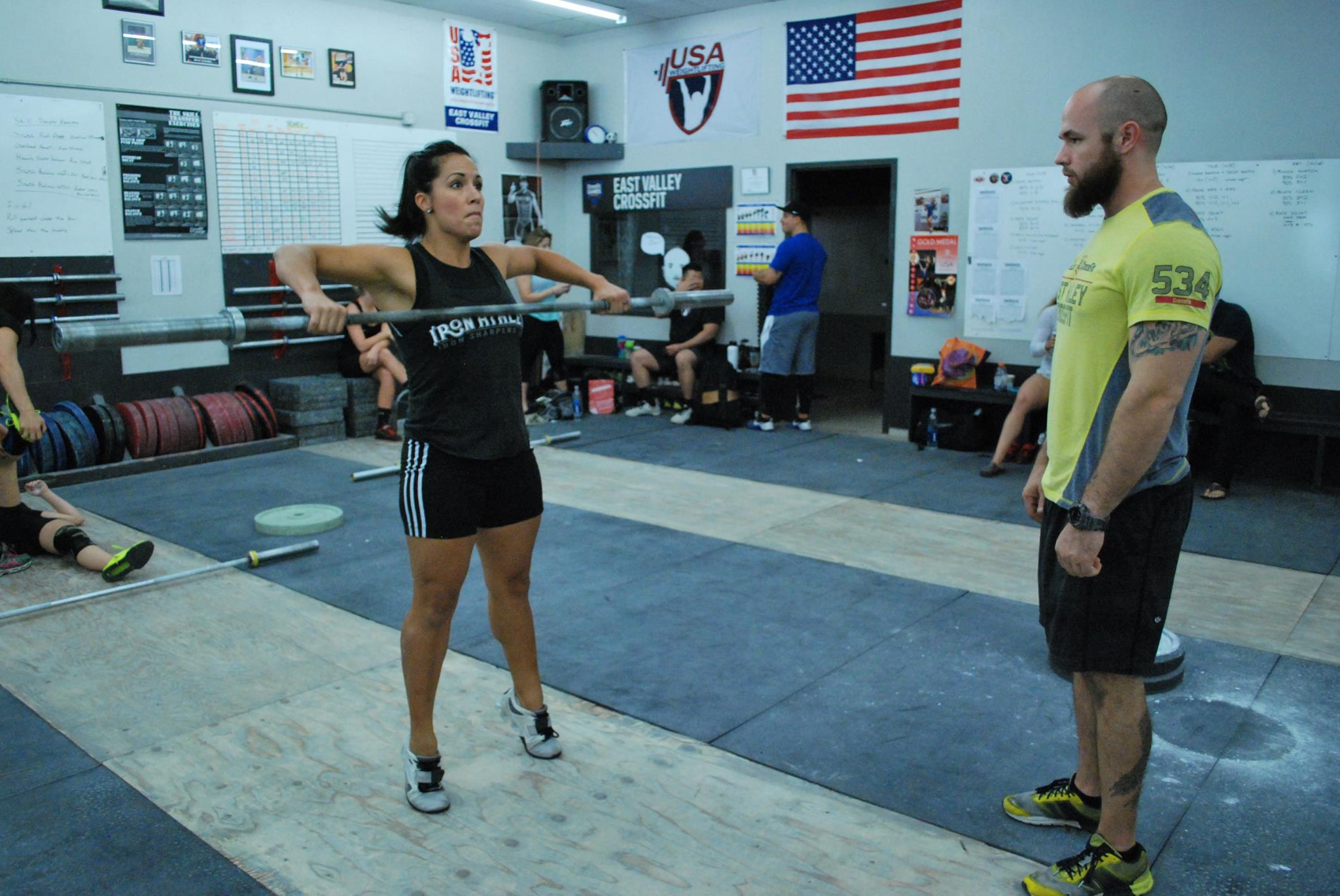 Megan Kelly Competing In The Iron Athlete Open Weightlifting Competition