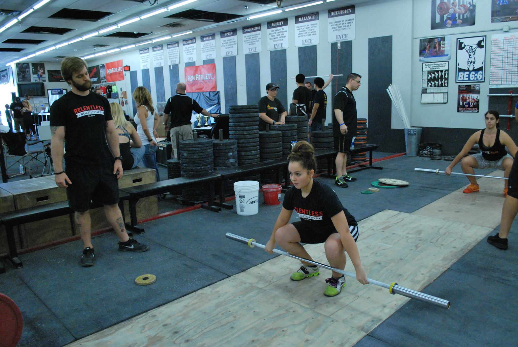 Michael Frazier And Tonny Lamanna Coaching At The Iron Athlete Open Weightlifting Competition