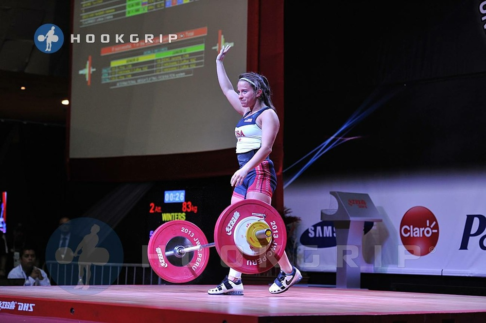 Kathleen Winters Competing At A Weightlifting Competition