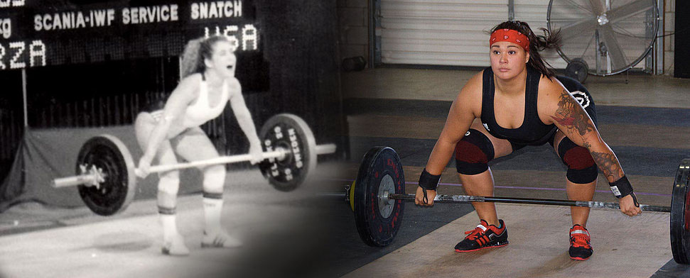 Competitive Weightlifters Ursula Garza Papandrea And Vanessa Frost