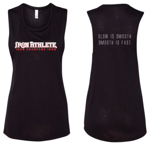 Black Trademark Logo Muscle Tank